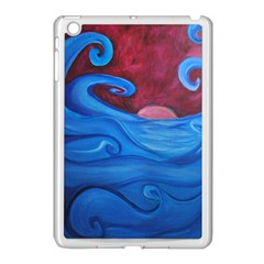 Blown Ocean Waves Apple Ipad Mini Case (white) by bloomingvinedesign