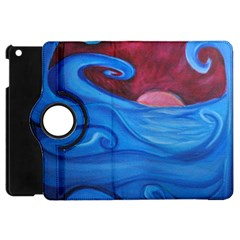 Blown Ocean Waves Apple Ipad Mini Flip 360 Case by bloomingvinedesign