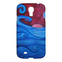 Blown Ocean Waves Samsung Galaxy S4 I9500/i9505 Hardshell Case by bloomingvinedesign