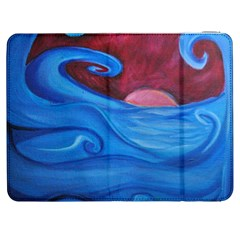 Blown Ocean Waves Samsung Galaxy Tab 7  P1000 Flip Case by bloomingvinedesign