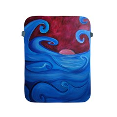 Blown Ocean Waves Apple Ipad Protective Sleeve by bloomingvinedesign