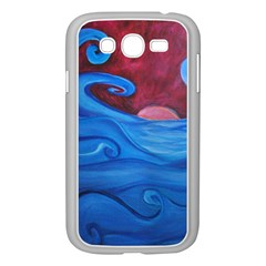 Blown Ocean Waves Samsung Galaxy Grand Duos I9082 Case (white) by bloomingvinedesign