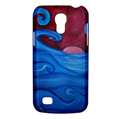 Blown Ocean Waves Samsung Galaxy S4 Mini (gt I9190) Hardshell Case  by bloomingvinedesign