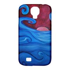 Blown Ocean Waves Samsung Galaxy S4 Classic Hardshell Case (pc+silicone) by bloomingvinedesign