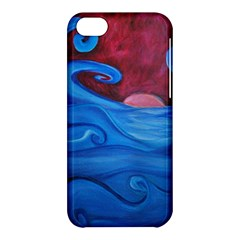 Blown Ocean Waves Apple Iphone 5c Hardshell Case by bloomingvinedesign