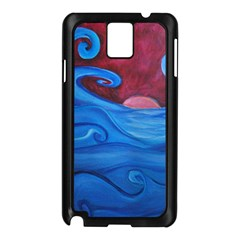 Blown Ocean Waves Samsung Galaxy Note 3 N9005 Case (black) by bloomingvinedesign
