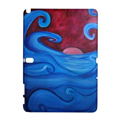 Blown Ocean Waves Samsung Galaxy Note 10.1 (P600) Hardshell Case by bloomingvinedesign