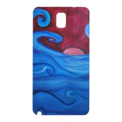 Blown Ocean Waves Samsung Galaxy Note 3 N9005 Hardshell Back Case by bloomingvinedesign