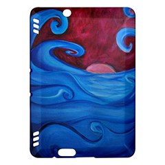 Blown Ocean Waves Kindle Fire Hdx Hardshell Case by bloomingvinedesign