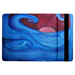Blown Ocean Waves Apple Ipad Air Flip Case by bloomingvinedesign