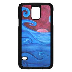 Blown Ocean Waves Samsung Galaxy S5 Case (Black) by bloomingvinedesign