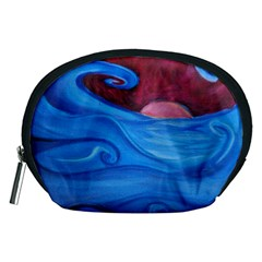 Blown Ocean Waves Accessory Pouch (medium) by bloomingvinedesign