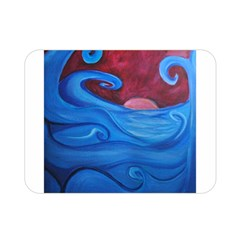 Blown Ocean Waves Double Sided Flano Blanket (mini) by bloomingvinedesign