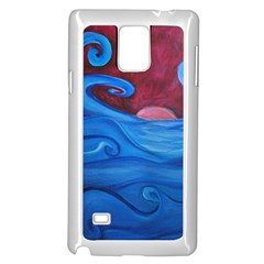 Blown Ocean Waves Samsung Galaxy Note 4 Case (white) by bloomingvinedesign
