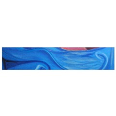 Blown Ocean Waves Flano Scarf (small) by bloomingvinedesign