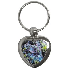 Blue And Purple Hydrangea Group Key Chain (heart) by bloomingvinedesign