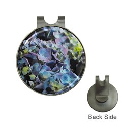 Blue And Purple Hydrangea Group Hat Clip With Golf Ball Marker by bloomingvinedesign