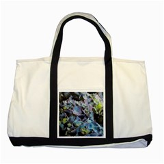 Blue And Purple Hydrangea Group Two Toned Tote Bag by bloomingvinedesign