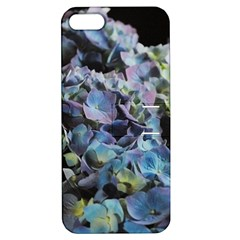 Blue And Purple Hydrangea Group Apple Iphone 5 Hardshell Case With Stand by bloomingvinedesign