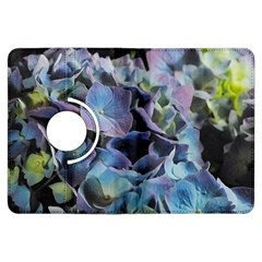 Blue And Purple Hydrangea Group Kindle Fire Hdx Flip 360 Case by bloomingvinedesign