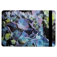 Blue And Purple Hydrangea Group Apple Ipad Air Flip Case by bloomingvinedesign