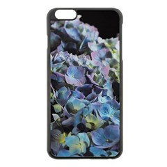Blue And Purple Hydrangea Group Apple Iphone 6 Plus Black Enamel Case by bloomingvinedesign