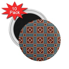 Squares Rectangles And Other Shapes Pattern 2 25  Magnet (10 Pack) by LalyLauraFLM