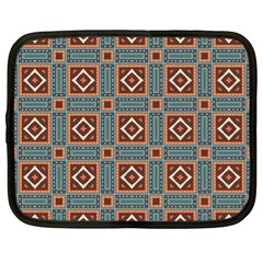 Squares Rectangles And Other Shapes Pattern Netbook Case (xl) by LalyLauraFLM