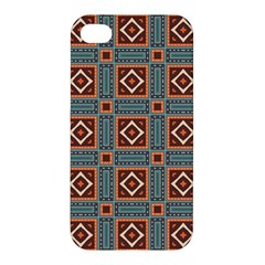 Squares Rectangles And Other Shapes Pattern Apple Iphone 4/4s Premium Hardshell Case by LalyLauraFLM