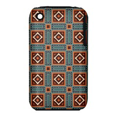 Squares Rectangles And Other Shapes Pattern Apple Iphone 3g/3gs Hardshell Case (pc+silicone) by LalyLauraFLM