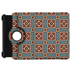 Squares Rectangles And Other Shapes Pattern Kindle Fire Hd Flip 360 Case by LalyLauraFLM