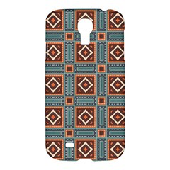 Squares Rectangles And Other Shapes Pattern Samsung Galaxy S4 I9500/i9505 Hardshell Case by LalyLauraFLM