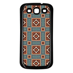 Squares Rectangles And Other Shapes Pattern Samsung Galaxy S3 Back Case (black) by LalyLauraFLM