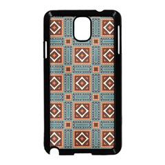 Squares Rectangles And Other Shapes Pattern Samsung Galaxy Note 3 Neo Hardshell Case (black)
