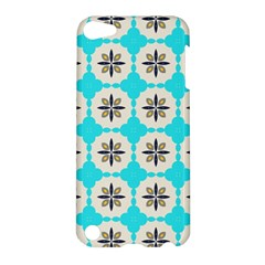 Floral Pattern On A Blue Background Apple Ipod Touch 5 Hardshell Case by LalyLauraFLM