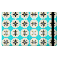 Floral Pattern On A Blue Background Apple Ipad 2 Flip Case by LalyLauraFLM