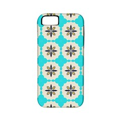 Floral Pattern On A Blue Background Apple Iphone 5 Classic Hardshell Case (pc+silicone) by LalyLauraFLM
