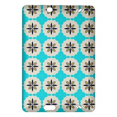 Floral Pattern On A Blue Background Kindle Fire Hd (2013) Hardshell Case by LalyLauraFLM