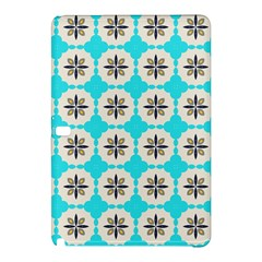 Floral Pattern On A Blue Background Samsung Galaxy Tab Pro 12 2 Hardshell Case by LalyLauraFLM