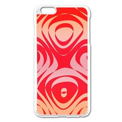 Gradient Shapes Apple Iphone 6 Plus Enamel White Case by LalyLauraFLM