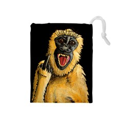 Monkey Bastard Drawstring Pouch (medium) by retz