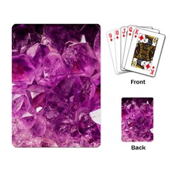 Amethyst Stone Of Healing Playing Cards Single Design by FunWithFibro