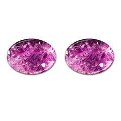 Amethyst Stone Of Healing Cufflinks (oval) by FunWithFibro