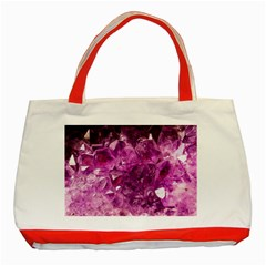 Amethyst Stone Of Healing Classic Tote Bag (red) by FunWithFibro