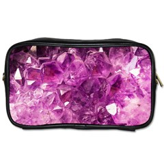 Amethyst Stone Of Healing Travel Toiletry Bag (one Side) by FunWithFibro
