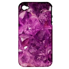 Amethyst Stone Of Healing Apple Iphone 4/4s Hardshell Case (pc+silicone) by FunWithFibro