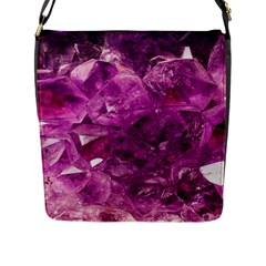 Amethyst Stone Of Healing Flap Closure Messenger Bag (large) by FunWithFibro