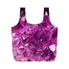 Amethyst Stone Of Healing Reusable Bag (m) by FunWithFibro