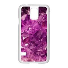 Amethyst Stone Of Healing Samsung Galaxy S5 Case (white) by FunWithFibro
