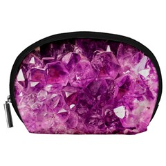 Amethyst Stone Of Healing Accessory Pouch (large)